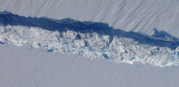 Scheur. Foto NASA ICE
