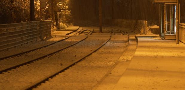 Treinverkeer ontregeld door sneeuw ©tuxbrother