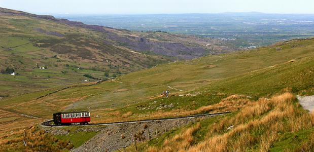 Treintje in Snowdonia. Foto The Ancient Brit