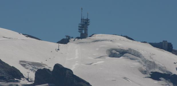 Het bergstation op de Titles - gezien vanuit Engelberg.