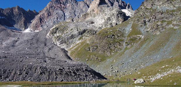 In de regio Ubaye zijn de gletsjers grotendeels verdwenen