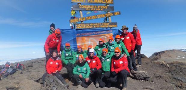 Getransplanteerden op top Kilimanjaro