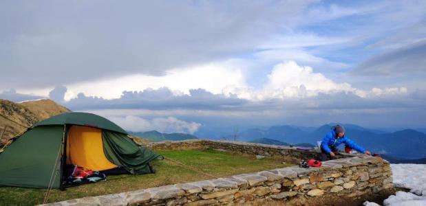 Wildkamperen in de Alpen. Foto: Matthieu Veldhuis