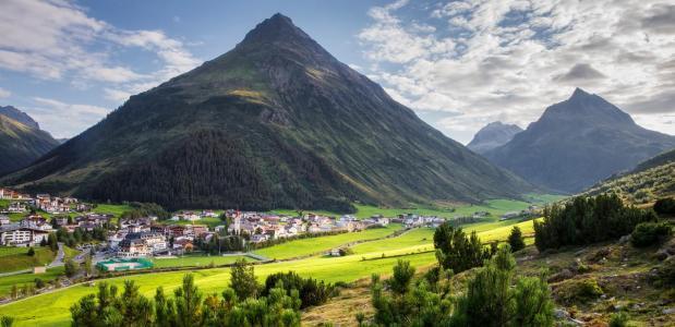 Galtür in Tirol, Oostenrijk