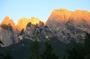 Naar de berg Sciliar (Schlern) Foto Alessandra Cimatti