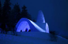 Sneeuwkerk in Beierse woud