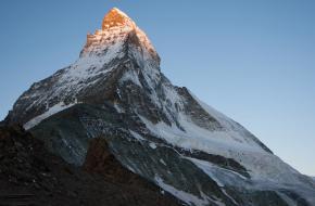 Matterhorn in de ochtendzon. Foto Fenneke Visscher