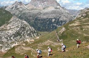 Wandelen in de bergen. Foto Linda Voskuil