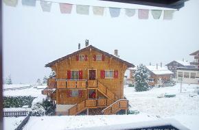 Sneeuw in Wallis op 1600 meter hoogte op 1 juni. Foto Menno Boermans