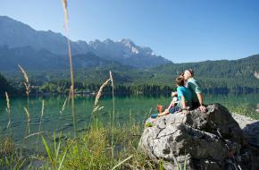 De Eibsee in Grainau. foto Ferienregion Zugspitzland - Lechner