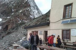 De oude Hornlihut aan de voet van de Matterhorn - Zwitserland