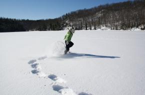 sneeuw in je schoenen