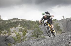 Bas Rotgans op de mountainbike in Frankrijk. Foto Irmo Keizer