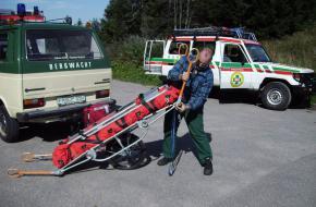 Bergreddingsdienst aan het werk