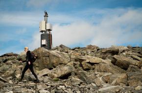 Noorse berg Mannen beklimmen