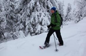 Sneeuwschoenwandelen in Finland