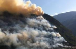 Brand in Visp - Wallis.