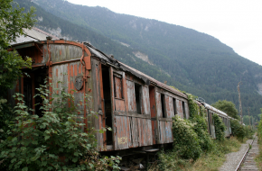 Verlaten treinstation Canfranc in Spaanse Pyreneeën. FOto Pablo Abad