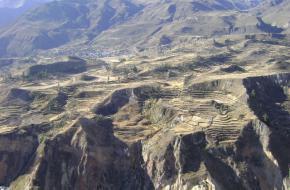 De Colca-canyon in Peru - Zuid-Amerika.