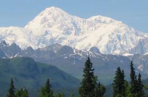 Denali of Mount McKinley in Alaska. Foto bdearth