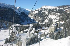 Een skilift in Flaine. Foto sportsandsocial