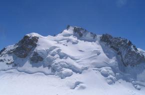 Foto: Eltouristo. Mont Maudit gezien vanaf de Mont Blanc du Tacul