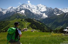 Foto Frank Peters - bij de Mont Blanc