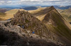 Frank Peters Verhaal achter de foto:Striding Edge - Helvellyn - Lake District