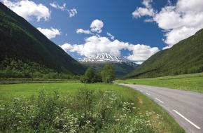 De hoogste berg van Noorwegen
