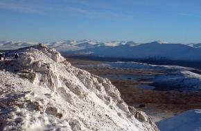 Glencoe in de sneeuw in Schotland. Foto Graham Cillies