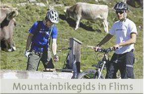 Mountainbikegids in Flims in Graubuenden