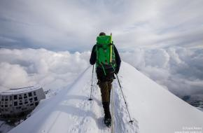 Harrie in de Alpen. Foto Frank Peters