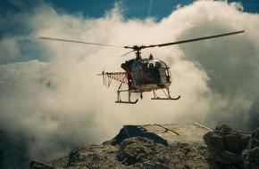 Foto: martin_vmorris. Helikopter in de Dolomieten