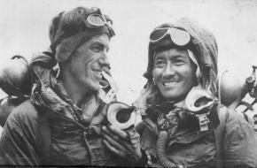 Hillary en Tenzing eerste beklimming Everest