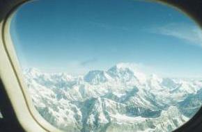 Himalaya vanuit een vliegtuig