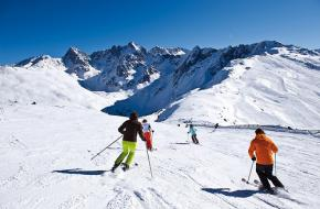 Skigebied Hochzeiger in het Pitztal in Tirol - Oostenrijk.