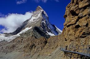 De weg naar de Hornlihut. Foto via Wikipedia
