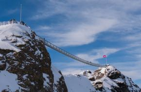 Hangbrug in Zwitserland. Afbeelding: pixabay.com