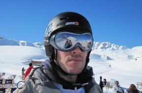 Skibril op Franse piste. Foto Fenneke Visscher