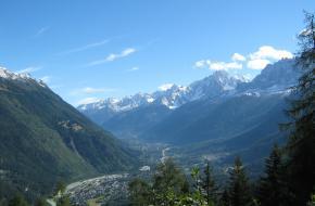Op weg naar Col de Voza - uitzicht op Les Houches en Chamonix. Foto Constantijn K