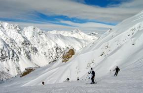 Ischgl in Tirol in betere tijden met meer sneeuw.