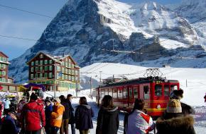 Jungfraujoch in de winter. Foto M van Duijn