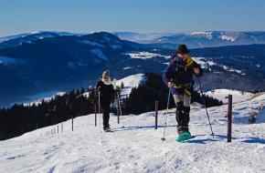 Sneeuwschoenwandelen in de Jura. foto Bert Vonk