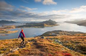 Het hele jaar hiken in Noorwegen. Foto A. Conu