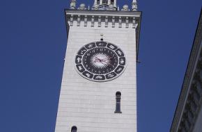De nieuwe klokkentoren van Rosa Khutor.