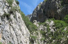 Rotsen in Paklenica - Kroatië