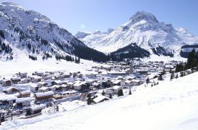 Wintersportoord Lech in Oostenrijk
