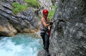 Klettersteig Lienzer Dolomieten. Foto Taco Vos