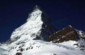 De Matterhorn in Zwitserland.