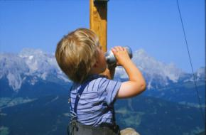 De eerste keer van Melchior in de bergen